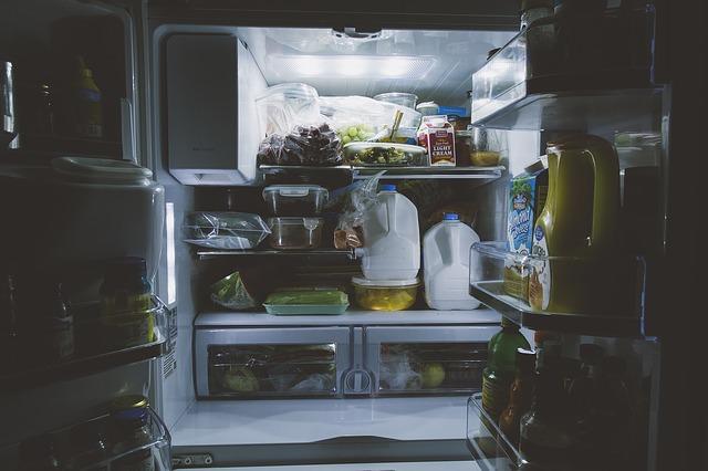 lednice plná jídla