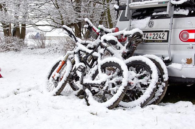 zasněžená kola