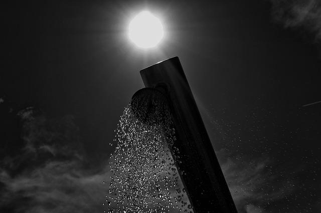 sprcha pod širým nebem