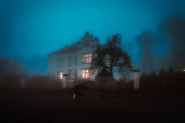 dům v mlze
